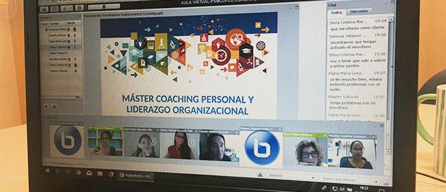 Se llevan a cabo las primeras prácticas virtuales de la Maestría en Coaching Individual y Liderazgo Organizacional