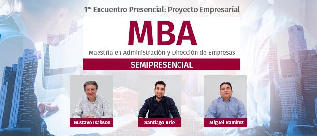 Entrevista a los docentes que coordinarán las actividades del 1º encuentro académico del MBA Semipresencial