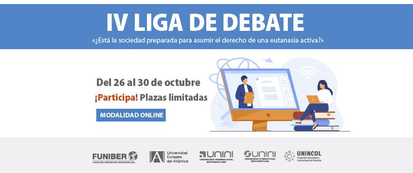 Estudiantes de la red universitaria de FUNIBER participarán en la Liga de Debate de UNEATLANTICO