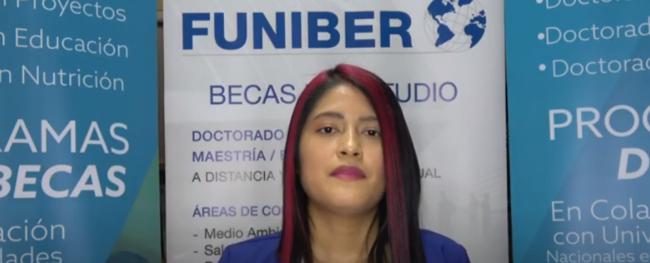 Entrevista a Lissette del Pilar Alarcón Guamán, estudiante ecuatoriana becada por FUNIBER